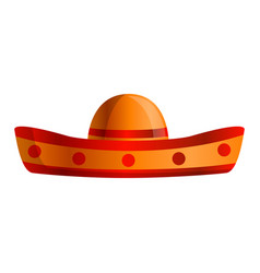 mexican sombrero icon cartoon style vector image
