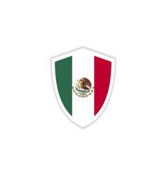 Mexico flag emblem template design vector