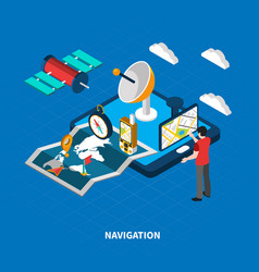 Navigation isometric vector