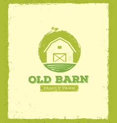 old barn local farm creative sign concept organic vector image