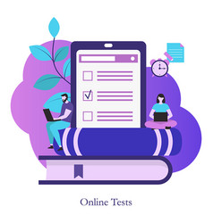 online testing or e-learning concept online vector image