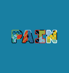 pain concept word art vector image