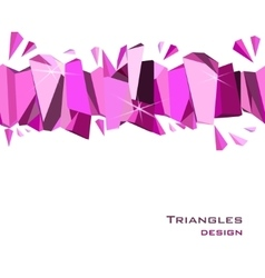 Pink abstract geometric background vector image