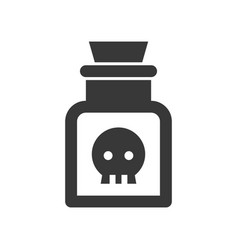 Poison in jar halloween solid icon vector