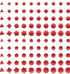 Red deformed polygon shape collection vector