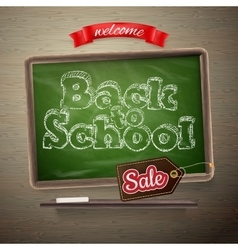 School Sale template EPS 10 vector image