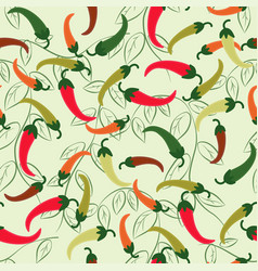 Seamless pattern of chili peppers vector