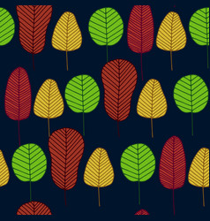seamless pattern with skeleton leaves vector image