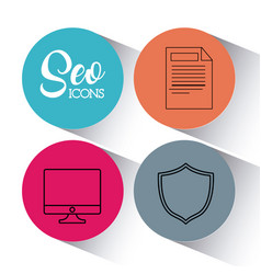 seo search engine optimisation and marketing icon vector image
