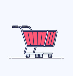 shopping cart trolley for supermarket or store vector image