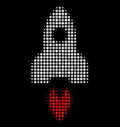 space rocket halftone icon vector image