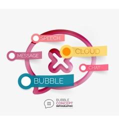Speech bubble infographic concept vector