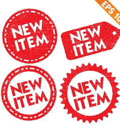 Stamp sticker new item tag collection - - E vector image