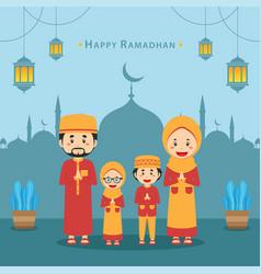 Stock happy ramadhan background vector