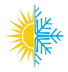 Summer winter air conditioning icon2 resize vector