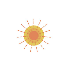 sun colored icon element of space signs and vector image