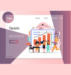 team website landing page design template vector image