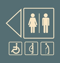Toilet sign vector