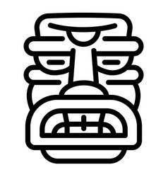 Totem idol icon outline style vector
