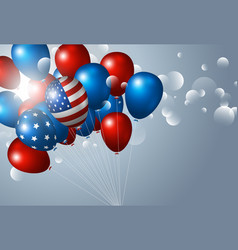 Usa 4th july independence day banner design vector