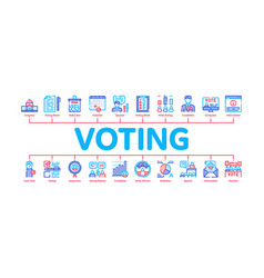 Voting and election minimal infographic banner vector