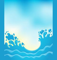 Water splash theme image 8 vector