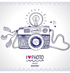 camera sketch vector image