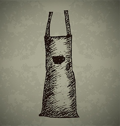 Doodle Coffee Apron vector image