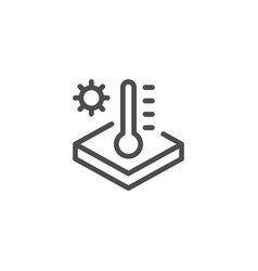 insulation temperature line icon vector image vector image