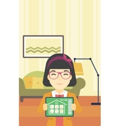 Smart home automation vector image vector image