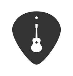 Guitar plectrum icon with the Guitar symbol sign vector image
