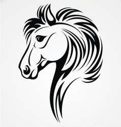 Horse Head Tribal vector image vector image