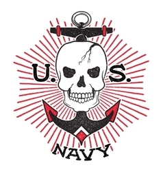 Old school us navy design vector