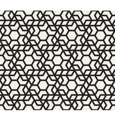 Seamless black and white hexagonal vector