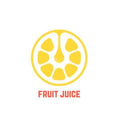 simple yellow fruit juice logo vector image vector image