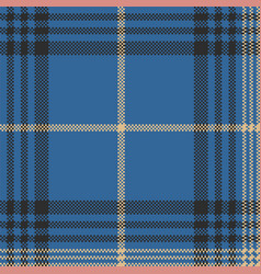 blue check plaid tartan seamless pattern vector image