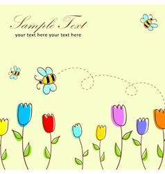 Cute floral postcard vector image