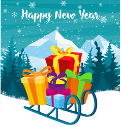 greeting card with christmas vector image vector image