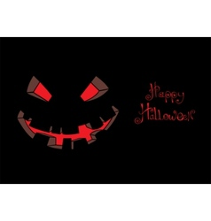 scary face vector image