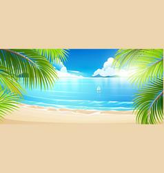 tropical island vector image