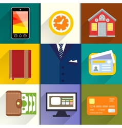 Collection of entrepreneur icons vector image vector image