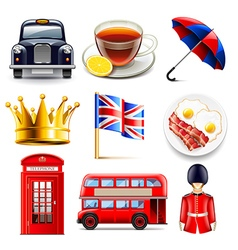 England icons set vector