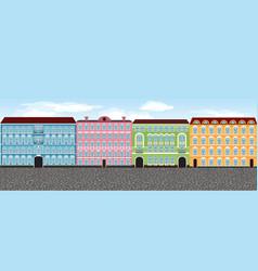 europe city street set 1 multi-colored vector image