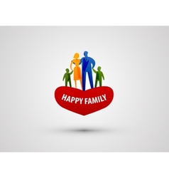 family logo design template people or love icon vector image