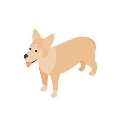 Mongrel dog icon isometric 3d style vector image vector image