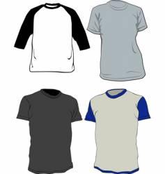 tee shirts vector image vector image