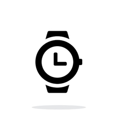 Wristwatch icon on white background vector image vector image