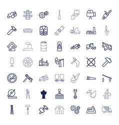 49 industry icons vector