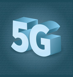 5g network technology in 3d vector image