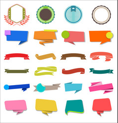 a collection various ribbons labels and badges vector image